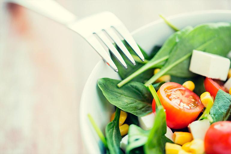 Mantenha uma alimentação balanceada